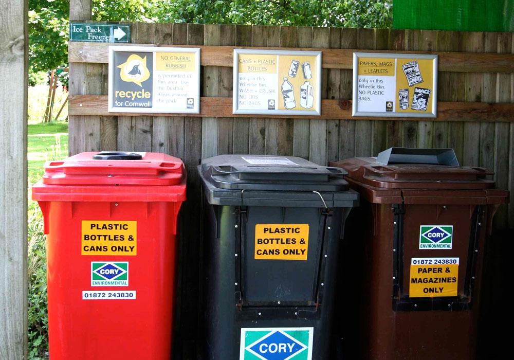 Recycling at Perran Springs