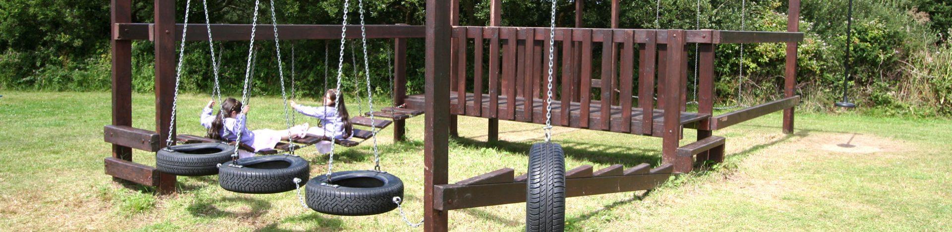 Holiday park play area