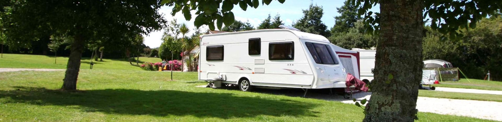 Holiday park touring pitch