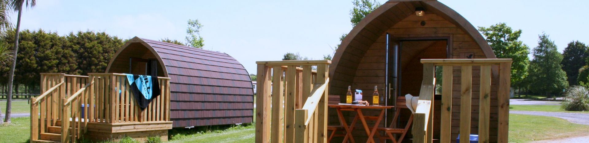 luxury pod holidays in Cornwall