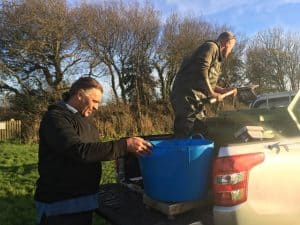 Priory fishery re-stocking Perran Springs Holiday Park