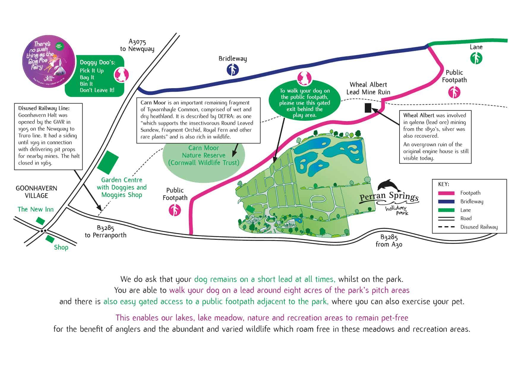 dog walk map