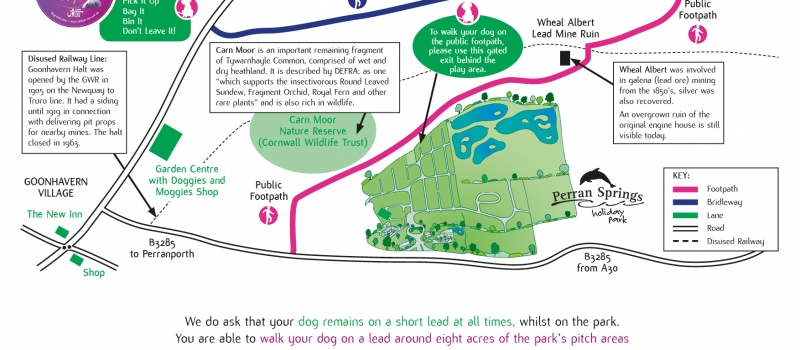 dog walk map